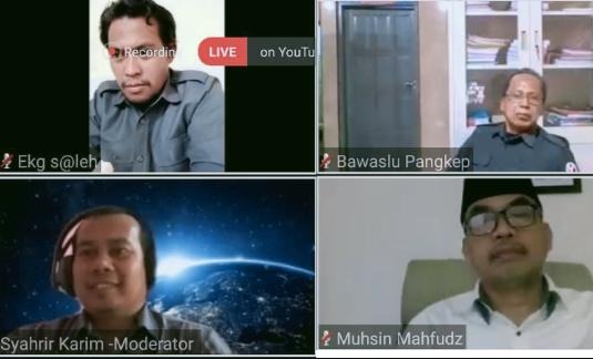 Kerjasama Bawaslu Sulsel, Prodi Ilmu Politik UIN Alauddin Gelar Webinar Nasional